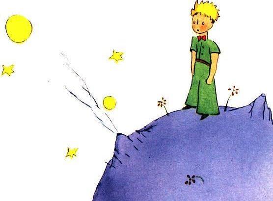 le petit prince sur l'astéroïde B612 de Saint-Exupéry