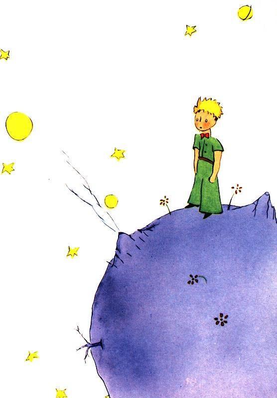 L'astéroïde B612 et le petit prince de Saint Exupery
