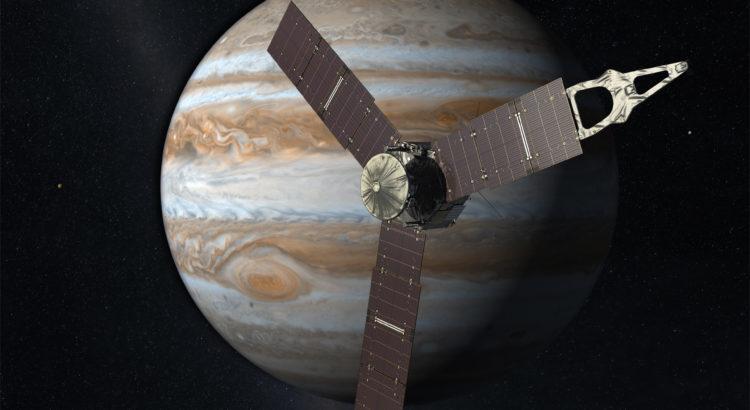 Mission Juno vers Jupiter (vue d'artiste) credit : NASA/JPL-Caltech