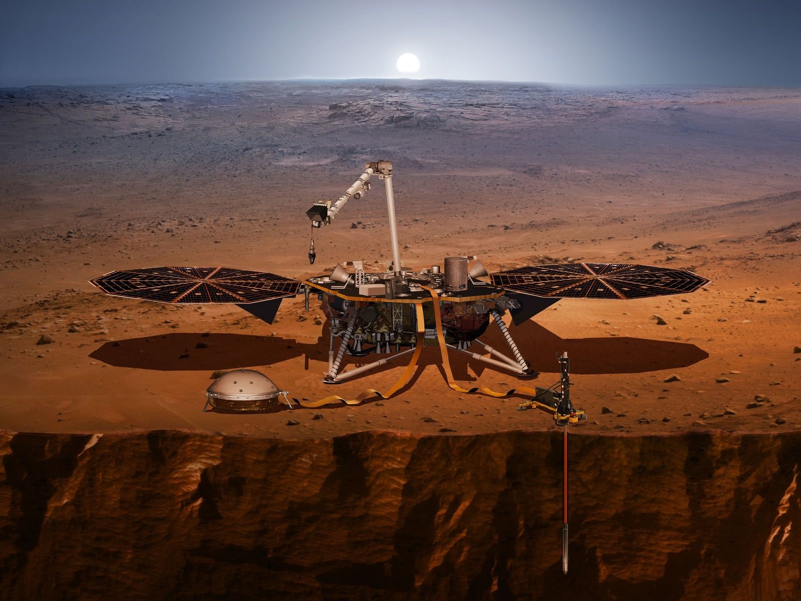 Mission Insight : direction Mars