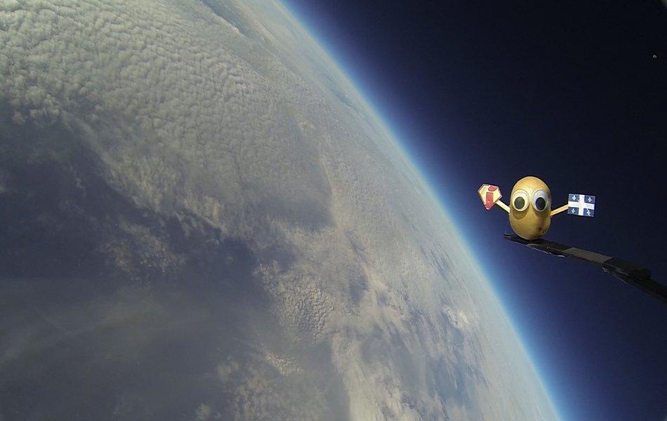 Billy, la patate et autres jouets insolites à la limite de l'espace