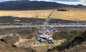 camp des manifestants à Hawai
