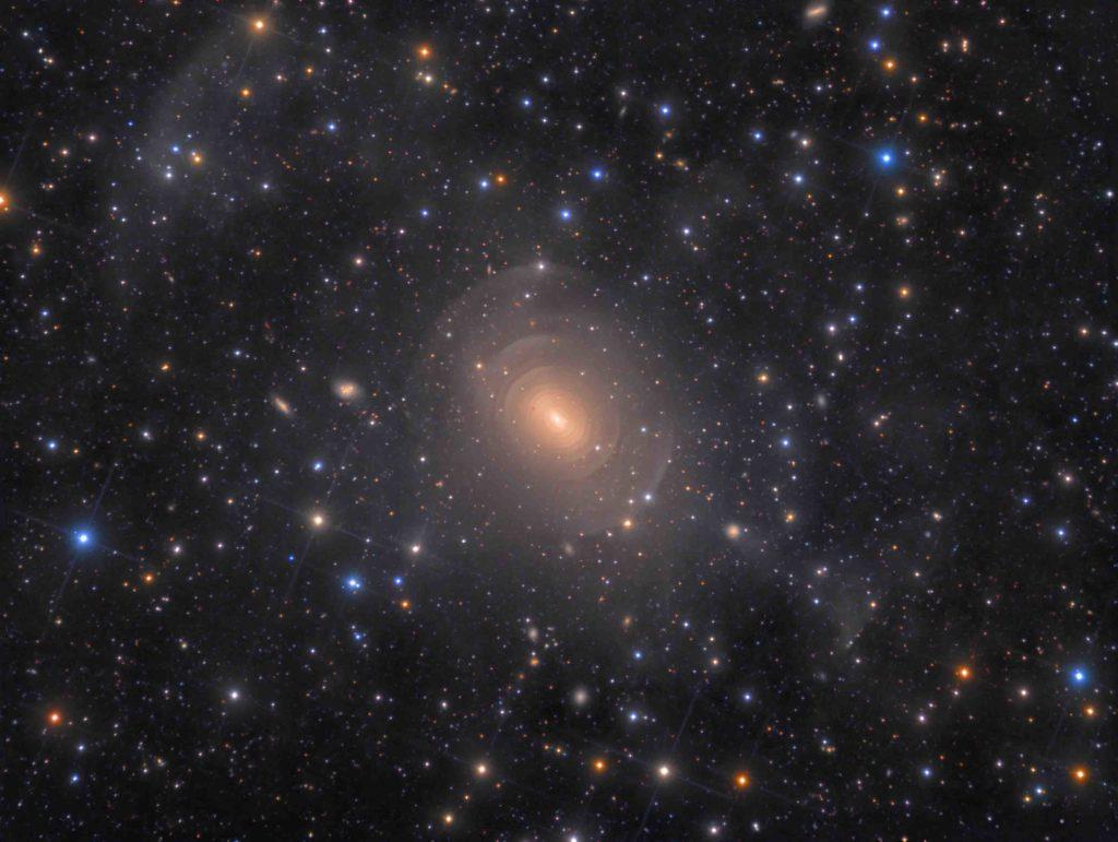 Shells of Elliptical Galaxy NGC 3923 in Hydra © Rolf Wahl Olsen