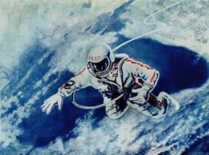 Peinture de Alexei Leonov : Over the Black sea