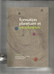 Livre - formation planétaire et exoplanètes