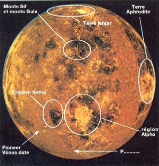 planisphère de Vénus
