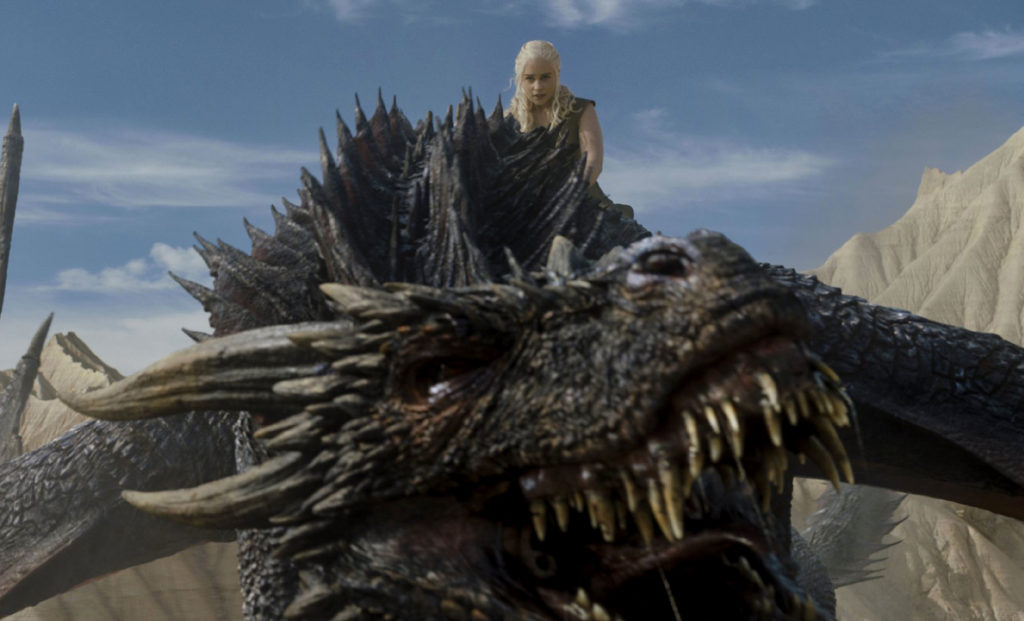 Daenerys avec son dragon - Game of Thrones