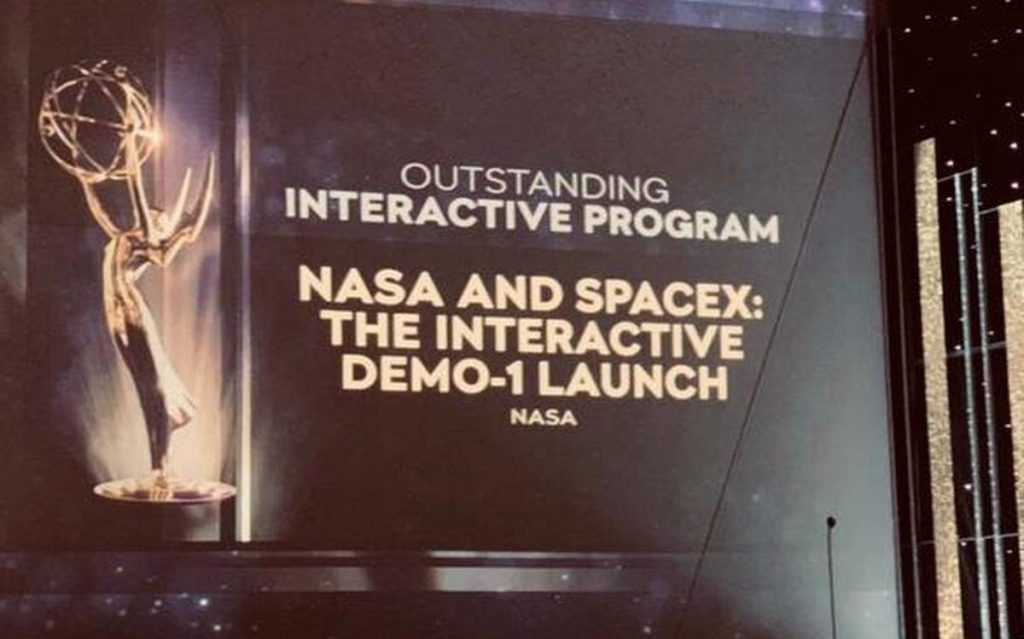 nasa et space X gagnent un emmy award
