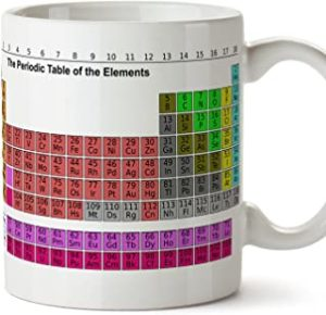 Cadeau chimie : Tasse avec le tableau des éléments