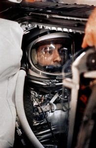 Alan Shapard dans la capsule Freedom 7