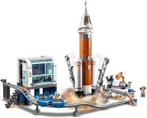 fusée spatiale et station de lancement - lego